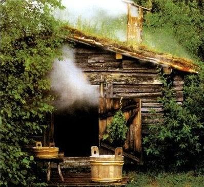 Русская баня представляет собою деревянную не большую избушку