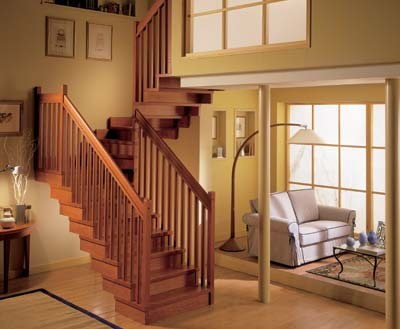 Деревянная лестница поможет создать в доме уют и комфорт