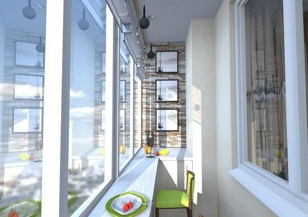 Дизайн барной стойки на балконе