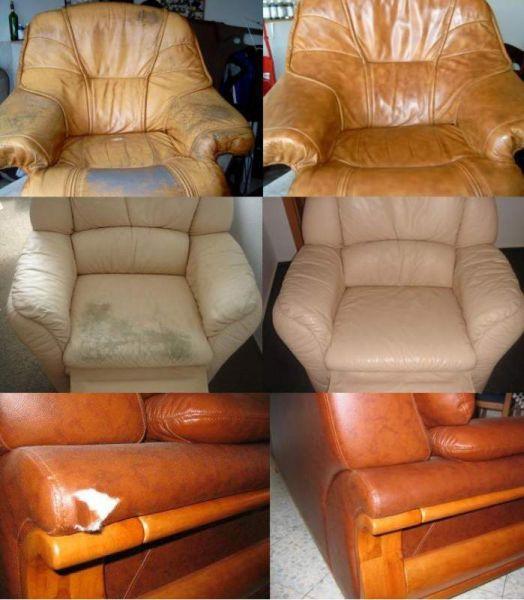 Покраска натуральной кожи для мебели