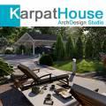 Ландшафтный дизайн, Дизайн экстерьера в Украине Закарпатье, Ужгород, Мукачево, Берегово